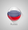 European flags set - Russia vector image vector image
