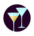 exotic cocktail social media icon vector image vector image