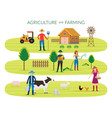 farmer agriculture and farming concept vector image vector image