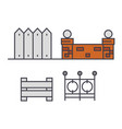 fences line icon concept fences flat sign vector image
