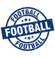 football blue round grunge stamp vector image vector image