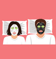 funny a married couple with vector image
