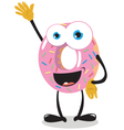 Funny Donut Saying hello vector image vector image