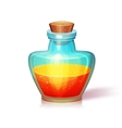 glass flask vector image vector image