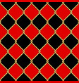 gold wire grid seamless pattern on red and black vector image vector image