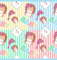 hand drawn cute lion and pattern set vector image vector image