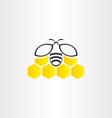 honeycomb and bee symbol