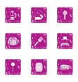 honeyed icons set grunge style vector image