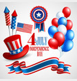 Independence Day holiday symbols vector image vector image