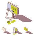 isometric billboard advertising applying vector image vector image
