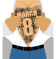 march 8 male hairy torso takes off his shirt vector image vector image