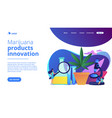 Marihuana products innovation concept landing page