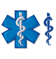 medical symbol caduceus snake vector image vector image