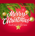 merry christmas - modern with vector image