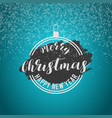 merry christmas snow background vector image