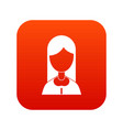 mother icon digital red vector image