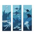 ocean banner vector image vector image