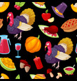 pattern for thanksgiving day vector image vector image