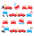 Road accident car crash personal injury i vector image