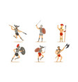roman ancient warrior character in armor in vector image vector image