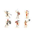 roman ancient warrior character in armor vector image vector image