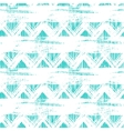 seamless ethnic zigzag pattern with bold vector image vector image