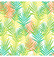 seamless plant pattern of abstract tropical leaves vector image