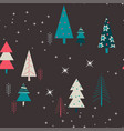 seamless winter pattern background vector image vector image