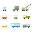 set different vehicles vector image
