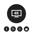 set of 5 editable filming icons includes symbols vector image vector image