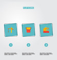 set of industry icons flat style symbols with vector image vector image
