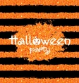 Shine Orange Wallpaper for Happy Halloween Party vector image
