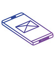 smartphone device with envelope vector image vector image
