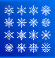 snowflake set abstract collection white vector image vector image