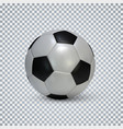 soccer ball realistic football ball with shadow vector image vector image