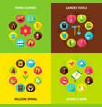 spring garden concepts set vector image