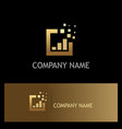 square business finance gold logo vector image vector image