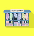 street newsstand icon flat style vector image vector image