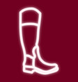 the image of a man s boot vector image vector image