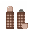 Thermos Flask Icons vector image vector image