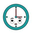 time clock kawaii character vector image
