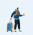 tourist hipster man vector image vector image
