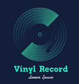 vinyl record music with dark background graphic vector image vector image
