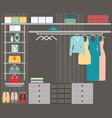 walk in closet vector image vector image