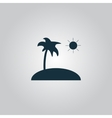 Island and palm icon vector image