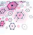 3d abstract magenta background created in bauhaus vector image vector image