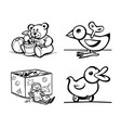 a set of drawings for children vector image