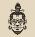 a voodoo head vector image vector image