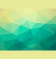 abstract green triangles background vector image