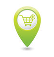 add to basket GREEN map pointer vector image vector image
